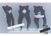 Moon. Hair // - B&W - Usagi