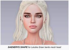 .QUENBY. -  Daenerys Shape for Lelutka Greer mesh head