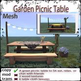 @Incendia Garden Picnic Table