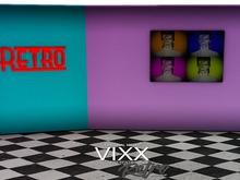 -VIXX- Mesh backdrop - Retro