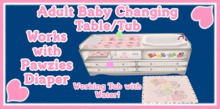 AB Designs AB Pink Changing Table/Tub (works with Pawzies)