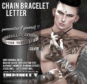 !NFINITY Letter Chain Bracelet - Silver (wear/add)