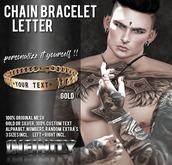 !NFINITY Letter Chain Bracelet - Gold (wear/add)