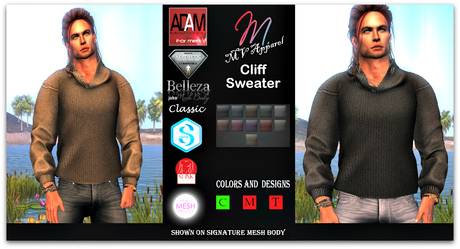 Cliff Sweater, Adam, aesthetic, belleza, Signature, slink, tmp, classic