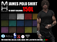Mesh Head - James Polo Shirt - SIGNATURE/BELLEZA/SLINK/ADAM/TMP/AESTHETIC