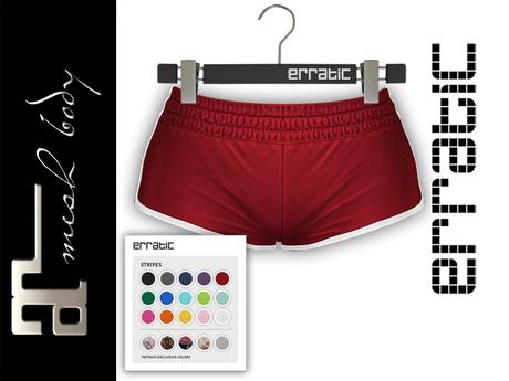 erratic / piper - shorts / red (maitreya)