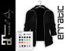 erratic / piper - jacket / black (maitreya)