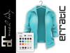 erratic / piper - jacket / cyan (maitreya)