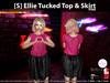 s  ellie tucked top   skirt pink pic