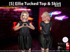 [S] Ellie Tucked Top & Skirt Black
