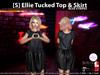 [S] Ellie Tucked Top & Skirt Blue Stripes