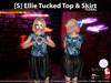 [S] Ellie Tucked Top & Skirt Floral