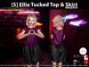 [S] Ellie Tucked Top & Skirt Magenta