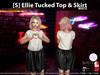 [S] Ellie Tucked Top & Skirt White