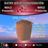 WIKO presents DFS Chicken Food * 100 Portions * Can use for feed, use for decoration, real play and more