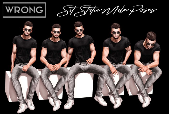 WRONG - Sit Static Male Poses