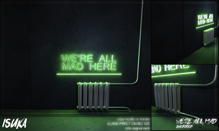 [ isuka ] we're all mad backdrop [wear me]