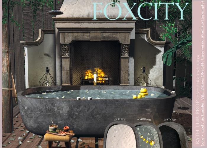 FOXCITY. Prop - Bath Tub