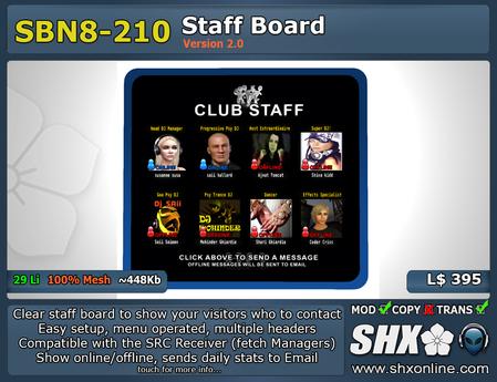SHX-SBN8-210 Staff board online indicator