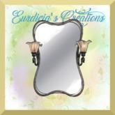 Lighted Silver Framed Mirror