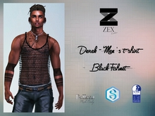 Derek - Men's t-shirt / Black Fishnet (Gianni . Jake . SLink)
