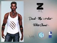 Derek - Men's t-shirt / White Clawed (Gianni . Jake . SLink)