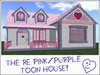 RE Pink/Purple Toon House w/Hearts - Home Cartoon Playhouse