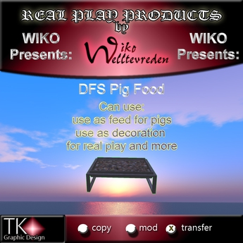 WIKO presents DFS Pig Food * 100 Portions * Can use for feed, use for decoration, real play and more