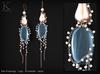 (Kunglers) Paty earrings - Topaz