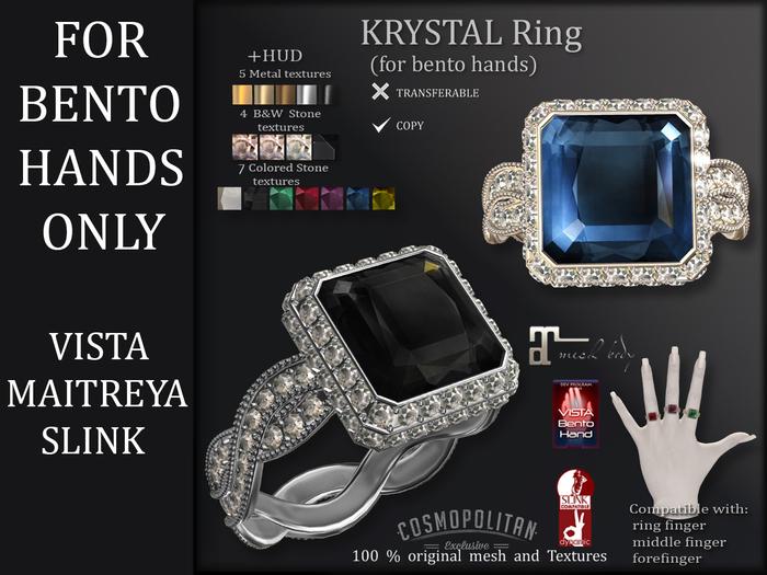 *AvaWay* KRYSTAL_Ring ( Maitreya, Vista and Slink)