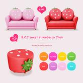 B.C.C sweet strawberry Chair Green