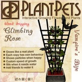 PlantPet Seed [Climbing Rose *Vampire's Bite*]