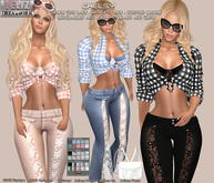 .:-->> YELIZ <<--:.  *CHELSY* Jeans ● Blouse ● Bra - HUD -
