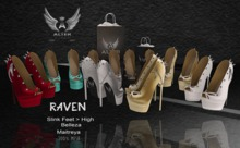 ::ALTER:: Raven shoes MAITREYA - BELLEZA - SLINK (White)