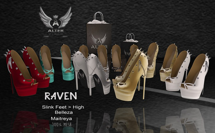 ::ALTER:: Raven shoes MAITREYA - BELLEZA - SLINK (Black)
