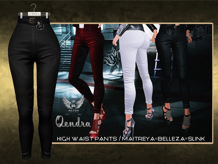::ALTER:: Qendra High Waist Pants / Maitreya, Belleza, SLink - BLACK