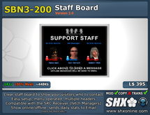SHX-SBN3-200 Staff board online indicator