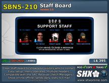 SHX-SBN5-210 Staff board online indicator