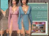 "Addams ""Lemon"" Mesh Dress for Maitreya, Belleza, Slink #FATPACK"