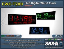CWC-T200- - Club Digital Alarm LED World Clock