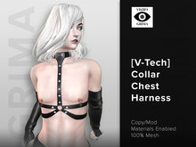 GRIMA : [V-Tech] Studded Collar Chest Harness