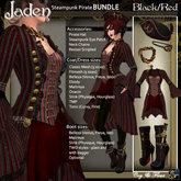 C&F Jaden Steampunk Pirate Bundle - BLACK/RED