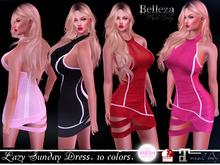SALE - Lazy Sunday Dress - 10 colors (Belleza all - Maitreya - TMP - Slink P & HG)