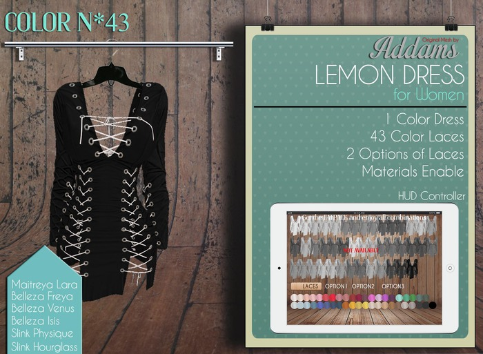 Addams - Lemon -  Dress with Laces #43