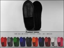 "#VERYRARE ""Corduroy"" Slippers #BLACK"