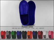 "#VERYRARE ""Corduroy"" Slippers #BLUE"