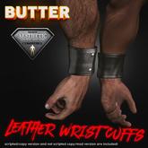 [BUTTER] Leather Wrist Cuffs for Niramyth Aesthetic