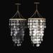 Capiz chandelier brass