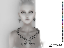 Zibska [50L Closeout] ~ Cassidy Color change necklace and earrings