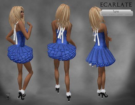 Ecarlate - Dress Gown Flower - Blue / Robe decontracte Bleu - Tyna